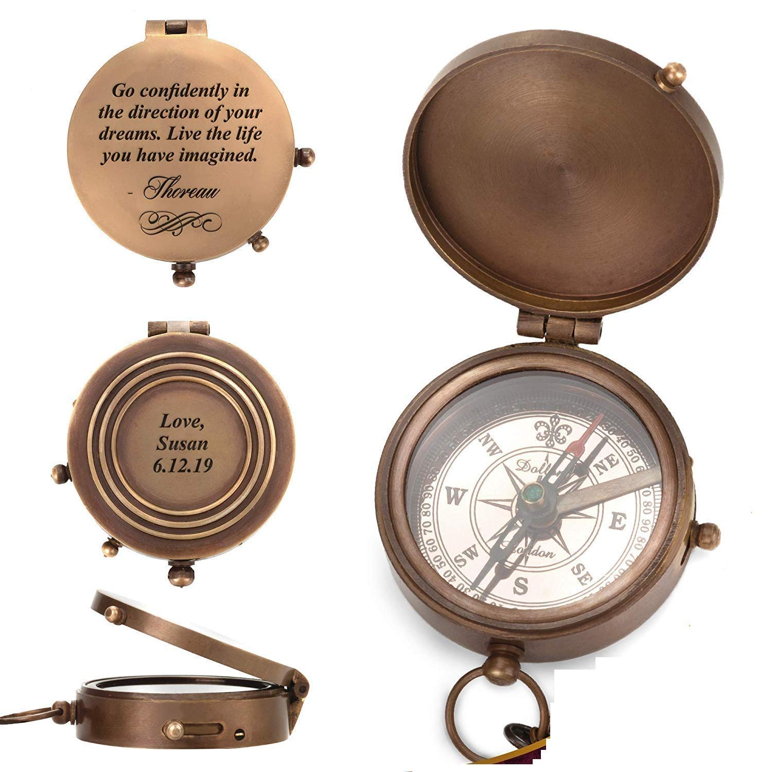 Engraved Compass, Personalised Compass, Custom Compass, Wedding