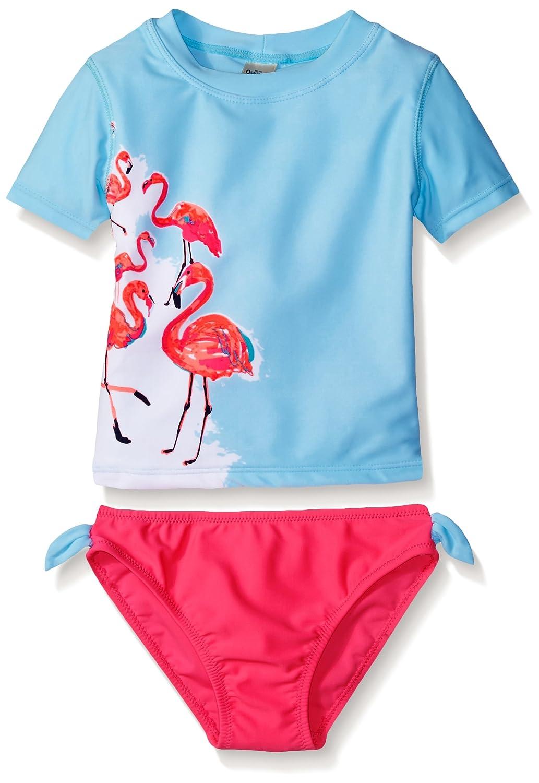Osh Kosh Girls' Flamingo Short Sleeve Rash Guard Set SB16750