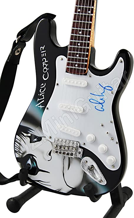 OZMiniGuitar Guitarra en Miniatura Serie Art Alice Cooper II ...