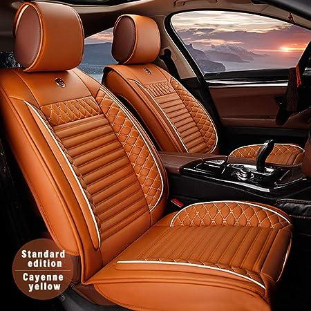 Allyard Auto Sitzbezüge Für Outlander Eclipse Cross Asx 5 Sitze Autositzbezug Auto Sitzbezüge Pu Leder Sitzauflage Autositz Schonbezüge Set Innen Zubehör Cayenne Gelb Auto