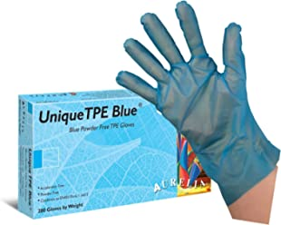 100 x Aurelia Robust 9.0 Blue Nitrile Disposable Gloves Size EXTRA LARGE Medical Industrial Powder Free Automotive Garage 1 Box x 100 Gloves