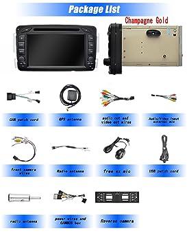 Ohok 7 Pulgadas 2 DIN Autoradio Android 8.0 Oreo Octa Core 4GB Ram 32GB ROM GPS Navegador Soporta Bluetooth WiFi AV-IN para Mercedes-Benz con Camara: ...