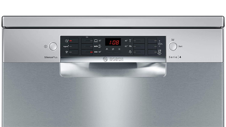 Bosch Serie 4 SMS46MI19E lavavajilla Independiente 14 cubiertos A++ - Lavavajillas (Independiente, Acero inoxidable, Tamaño completo (60 cm), Acero ...
