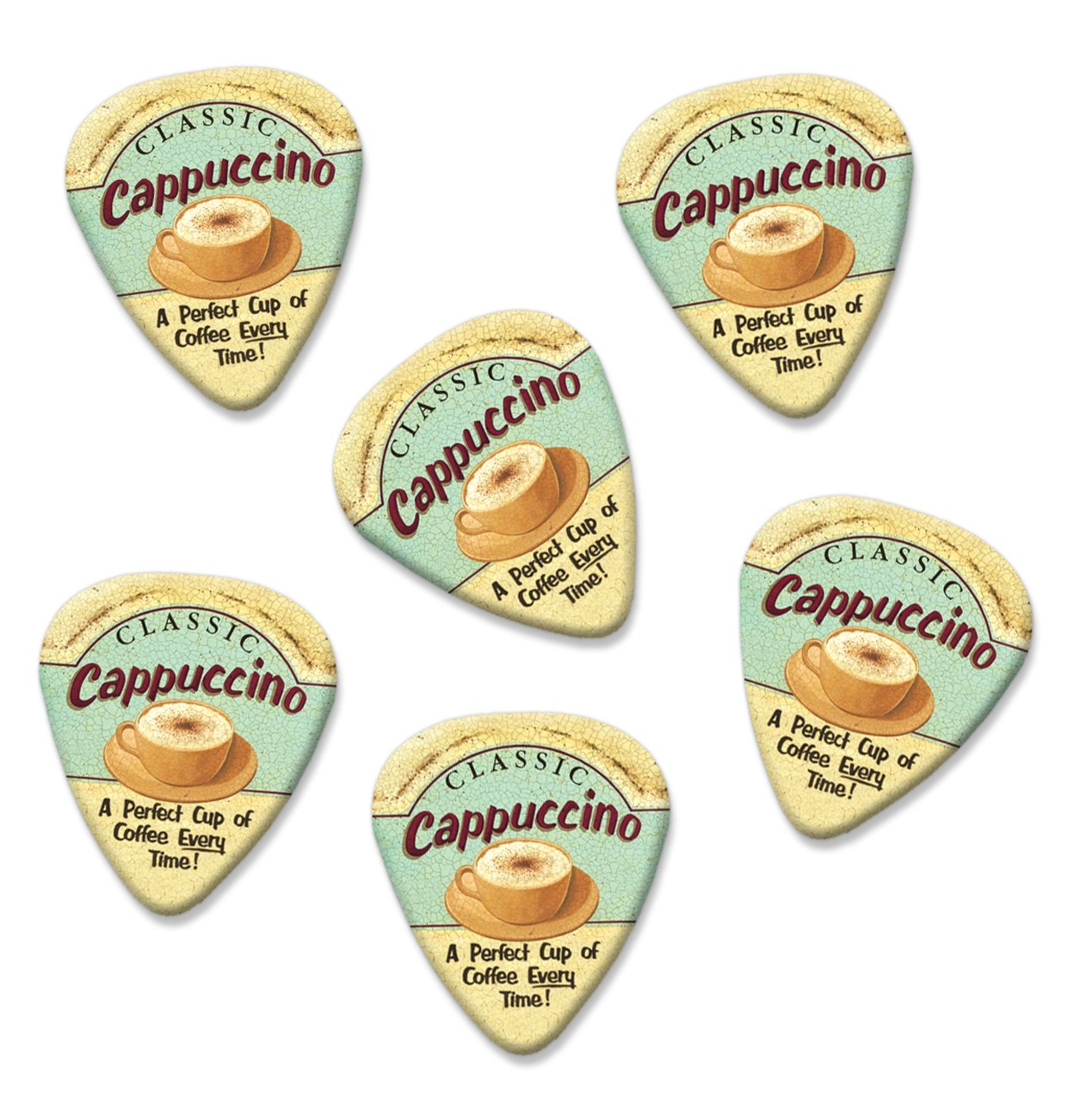 Perfect Cappuccino Martin Wiscombe 6 X Púas Para Guitarra Vintage ...