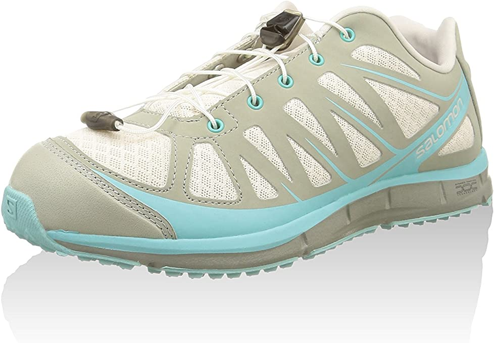 Salomon KALALAU W Zapatillas Running Gris Azul para Mujer: Amazon ...