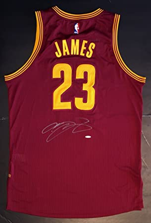 faecbda15213 LeBron James Autographed Cleveland Cavaliers Jersey - Wine red at ...