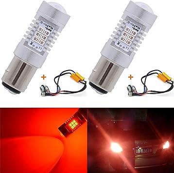 1157 Dual Color LED Error Free Turn Signal Light Bulbs /& Load Resistors Decoder