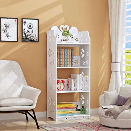 Amazon Com Tlmydd Swan Bookshelf Simple Multi Layer Storage Cabinet