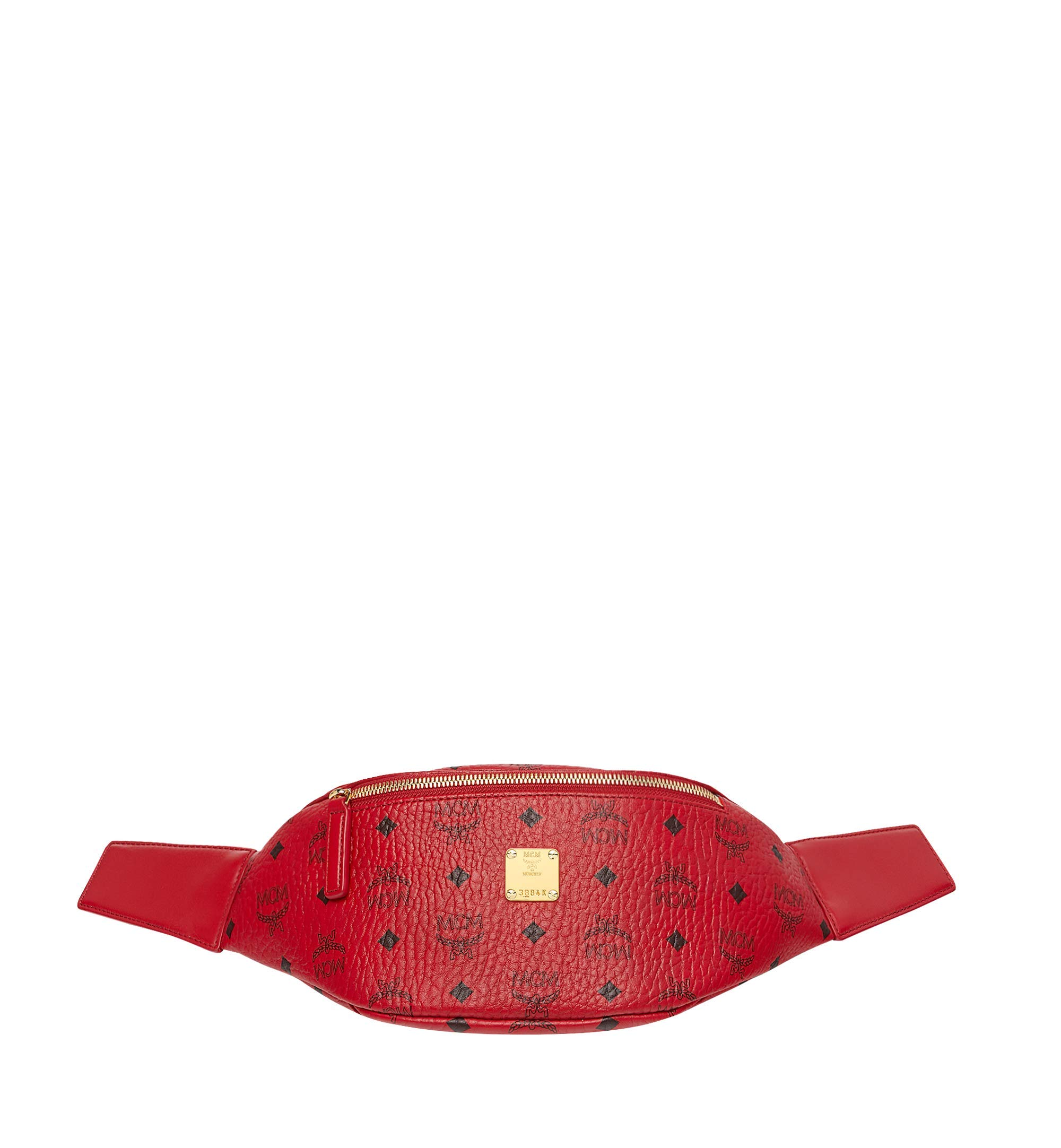 MCM Women's Project (RED) Stark Small Belt Bag, Ruby, ONE SIZE