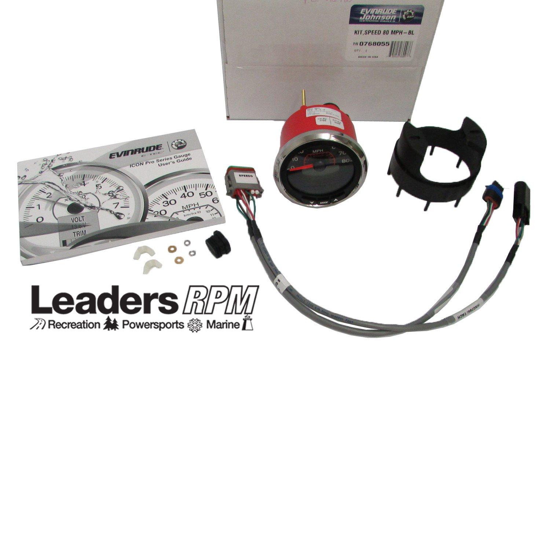 Evinrude Etec New Icon Pro Speedo Speedometer Kit 3'' Black 80 MPH 0768055 768055