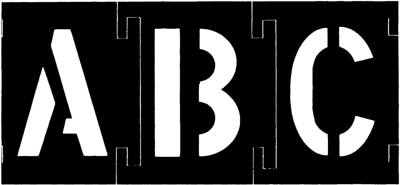 92 pieces Hanson 10156 Brass Interlocking Stencil Letter /& Number Set 6 inch C.H