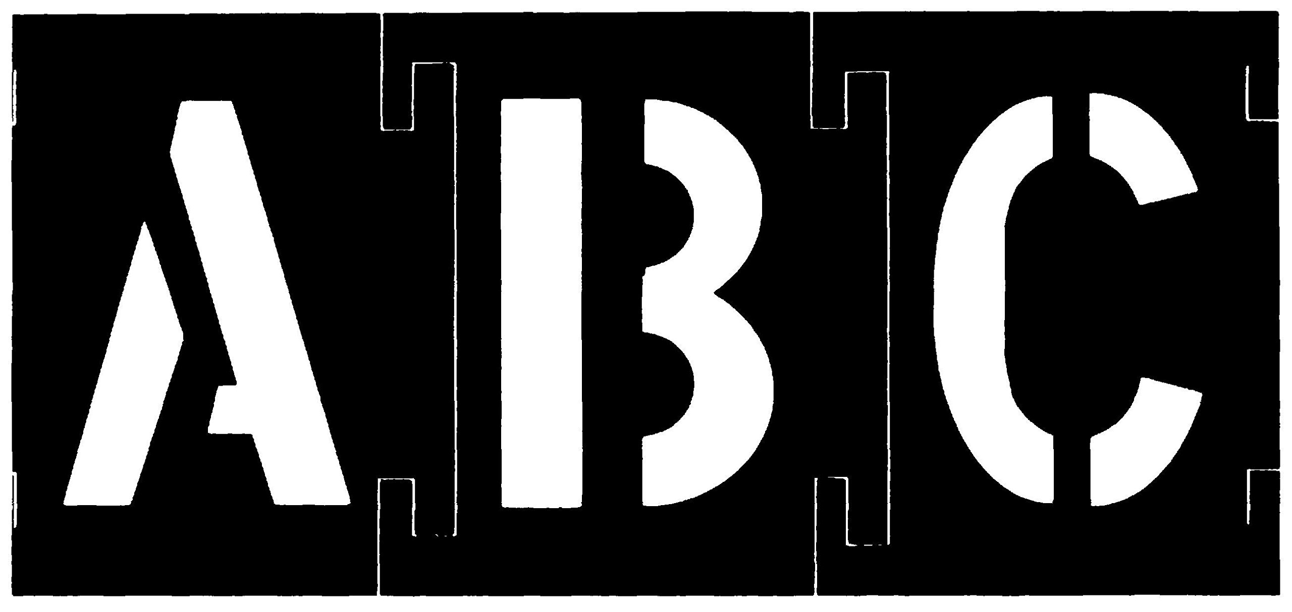CH Hanson 10195 Plastic Interlocking Stencils Letters and Numbers 138 Piece Set, 3'', Black by CH Hanson