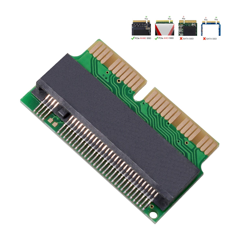 M.2 Nvme Ssd Convert Adapter, 12 + 16pin M.2 Ngff M-key Ssd Para Convertir La Tarjeta Para Macbook Air Pro Retina Mid 20