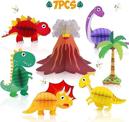 Amazon.com: Dinosaur & Volcano Centerpieces – Dinosaurio ...