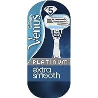 Gillette Venus Platinum Extra Glad Scheermes Met Metalen Handvat Voor Vrouwen