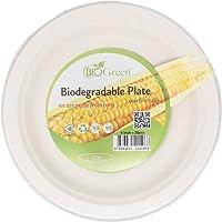 "Biogreen Disposable Plate, Milky White, 6"", Pack of 20, (BD-6BP20)"