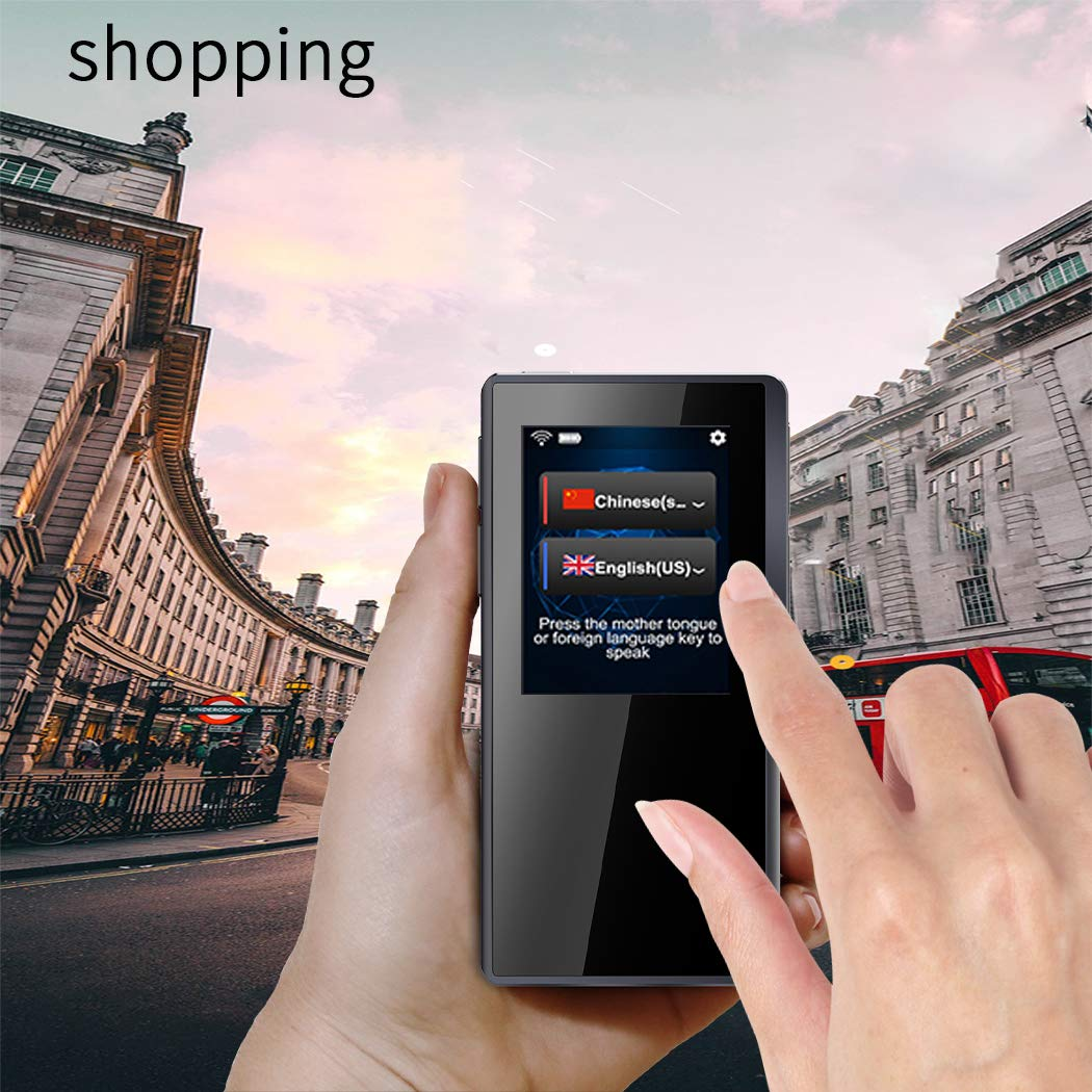 Translator Device with 2.4 Inch High Definition Toch Screen Support 70 Languages Smart Voice for Travelling Abroad Learning Off-Line Shopping Business Chat Recording Translations by Duteri (Image #5)