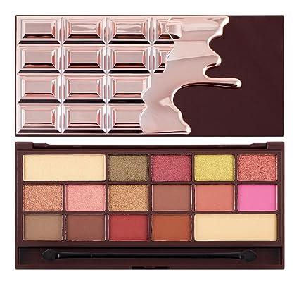 0db5ee6a3d97 I Heart Revolution Eyeshadow Palette I Heart Chocolate - Rose Gold   Amazon.co.uk  Beauty