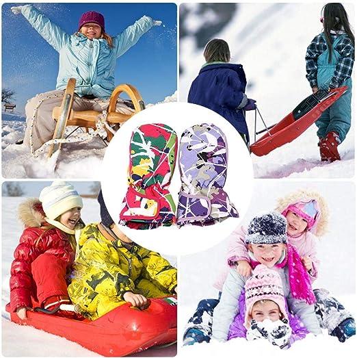 Child Kids Toddlers Girl Boy Winter Snow Ski Mittens Gloves NWT 3-6 T