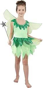 EL CARNAVAL Disfraz Campanilla niña Talla de 8 a 10 años: Amazon ...