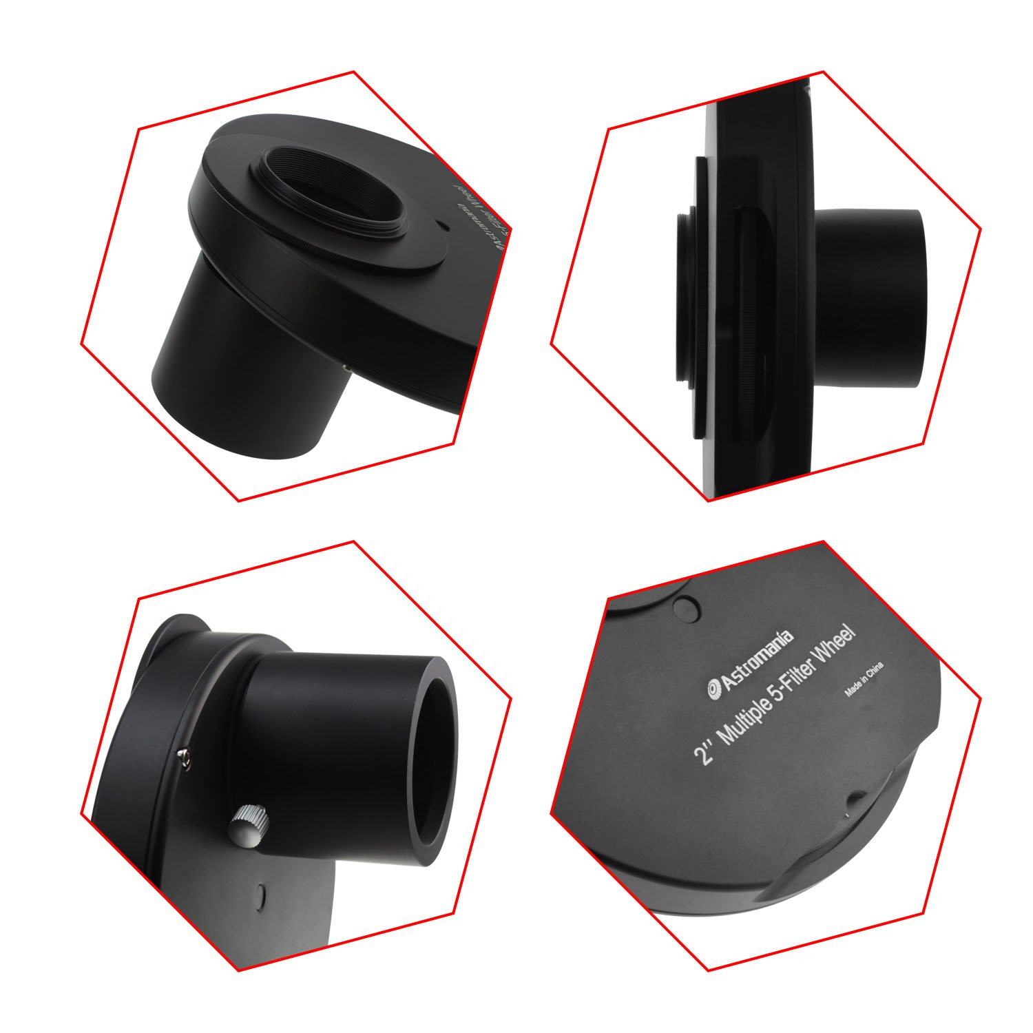 Astromania 2'' Superior Quality Multiple 5-Position Filter Wheel For Telescope - allowing you to image without any reflections or stray light by Astromania (Image #4)