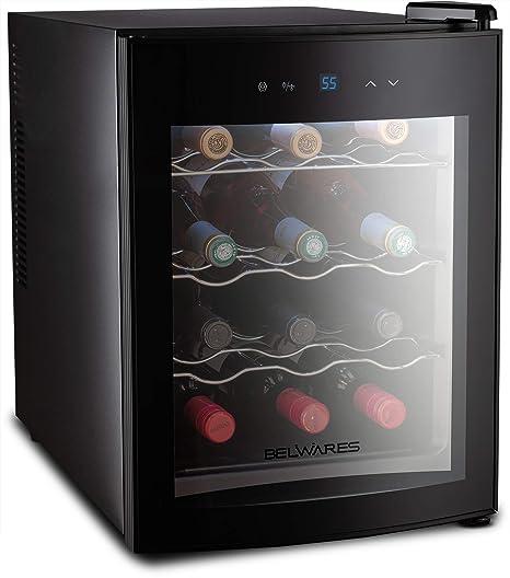 Belwares - Enfriador de 12 botellas de vino, refrigerador ...