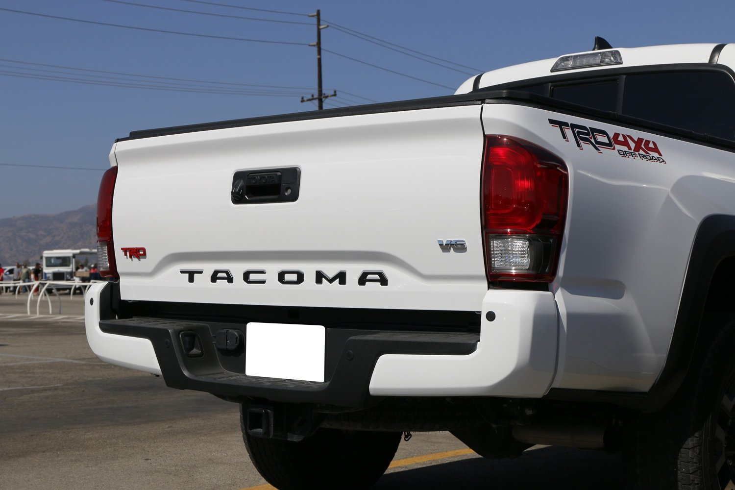 JDMTOY Black Finish 3D 6pcs Tailgate Letter Inserts For 2016-up Toyota Tacoma Made w//1.5mm Hard Plastic not A Paper Decal