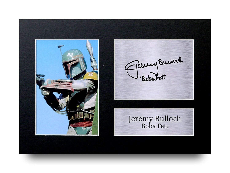 HWC Trading Jeremy Bulloch Geschenke Unterzeichneten A4 Gedrucktes Autogramm Star Wars Boba Fett Druck-Foto-Bilderanzeige