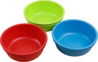 product image for Re-Play Made in USA 3pk 12 oz. Bowls in Lime Green, Red, and Sky Blue | Made from Eco Friendly Heavyweight Recycled Milk Jugs and Polypropylene - Virtually Indestructible (Nursery School)