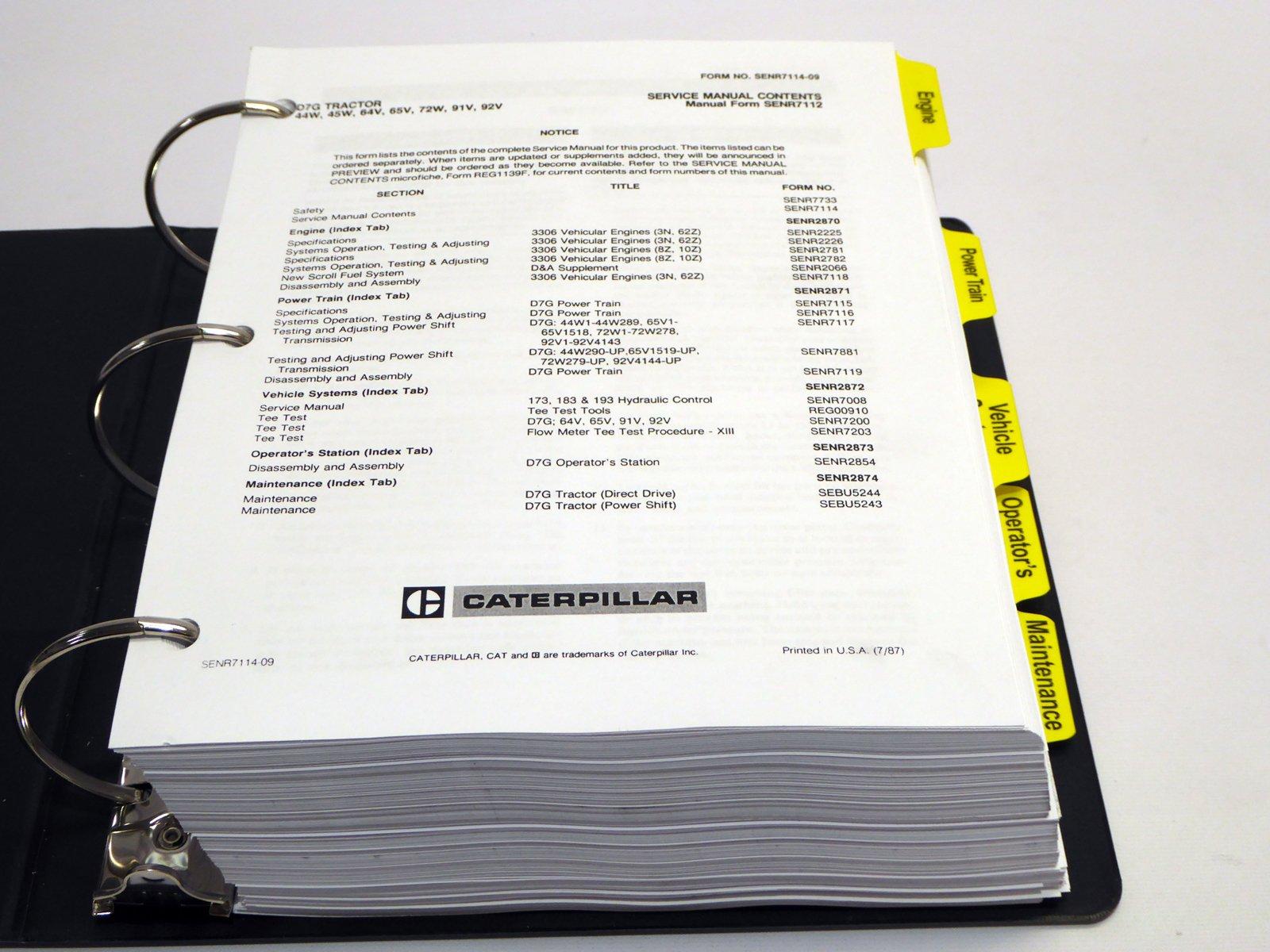 Caterpillar D7G Service Manual: Inc  Caterpillar: Amazon com