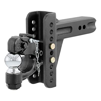 CURT 45908 Adjustable Pintle Hitch Combination, Fits 2-1/2-Inch Receiver, Fits 2-1/2-Inch or 3-Inch Lunette Ring, 6-Inch Drop, 5-1/4-Inch Rise, 2-5/16-Inch Hitch Ball, 20,000 lbs. GTW: Automotive