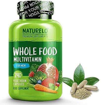 NATURELO Toda multivitamínicos Alimentos para los hombres - vitaminas naturales, minerales, antioxidantes, extractos