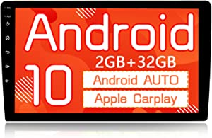 """Binize Android 10 Car Stereo Radio 10 inch with Apple Carplay Android Auto 10""""Touch Screen Double Din Head Unit with GPS Navigation Receiver/AM/FM/RDS/Bluetooth/WiFi Receiver/DSP/Dual USB"""