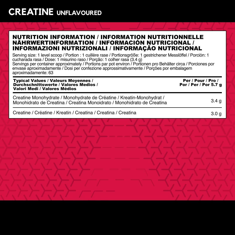 BSN DNA Creatine, Creatina Monohidratada en Polvo, Nutrición Deportiva, Sin Sabor, 63 Porciones, 216 g