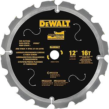Dewalt Dwa31216pcd 16t Pcd Tipped Laminate Cutting Blade 12 Amazon Co Uk Diy Tools