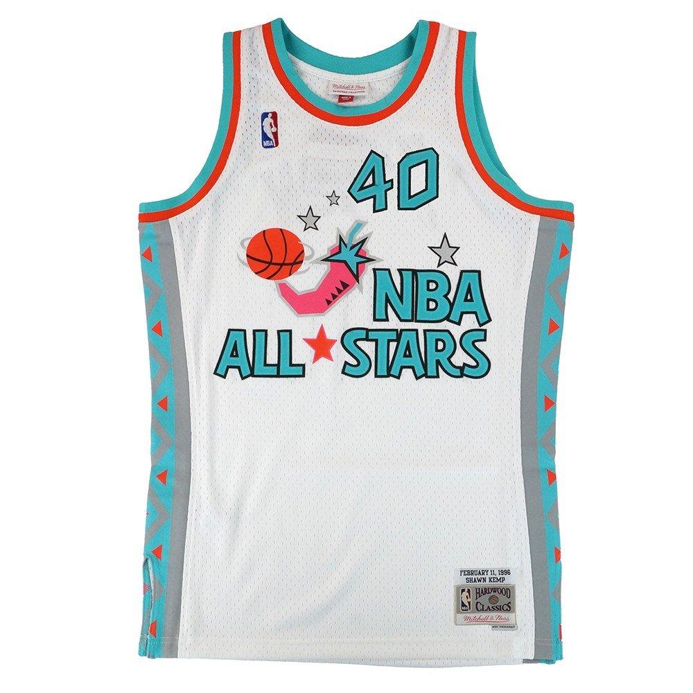 Shawn Kemp NBA Mitchell & Nessホワイト1996 NBA All Star West Jerseyメンズの X-Large  B079T95G5J