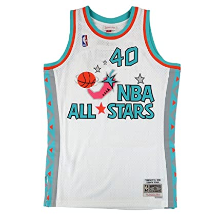 181c60444 Mitchell   Ness Shawn Kemp NBA White 1996 NBA All Star West Jersey For Men (