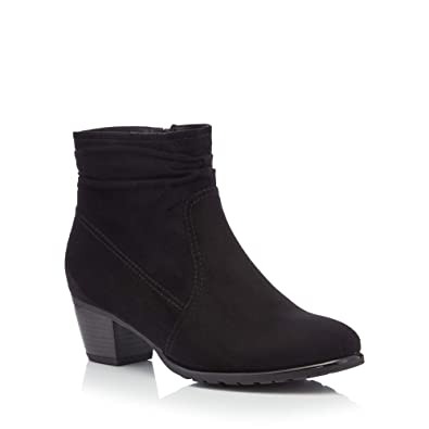 ef28812fd46 Good for the Sole Womens Black Suedette  Gerda  Mid Heel Wide Fit Ankle  Boots  Amazon.co.uk  Shoes   Bags