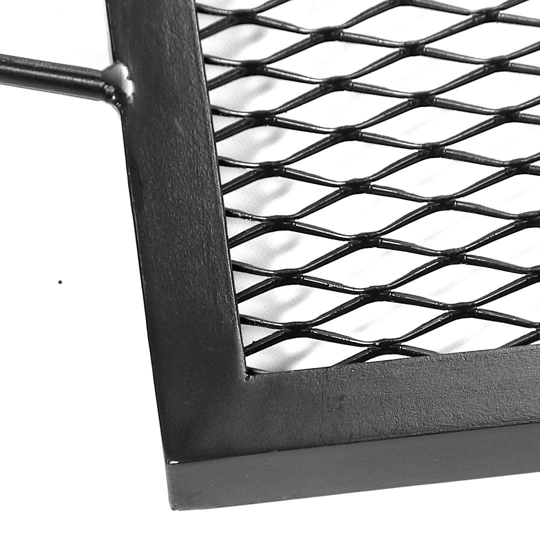 amazon com sunnydaze x marks rectangle fire pit cooking grill