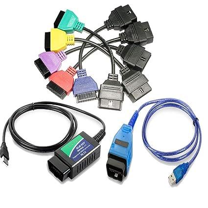 GLLC Multiecuscan/Fiatecuscan/Alfaobd OBD Adaptador de Conector+ ...