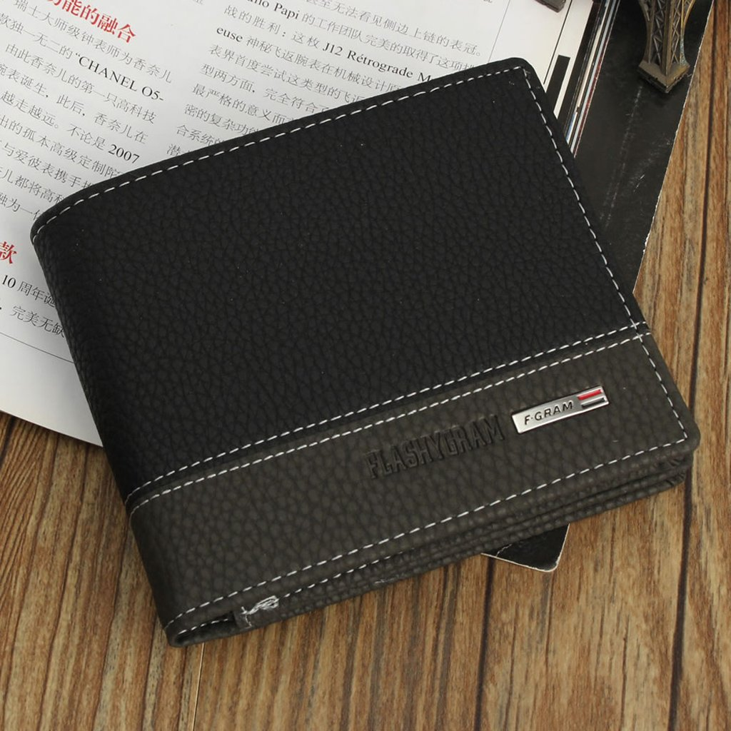 Gjyia Cool Men Bifold Billetera de Cuero Monedero Titular de la Tarjeta de crédito Monedero Negro: Amazon.es: Hogar