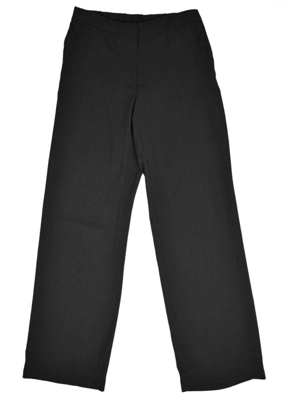 Jones New York Collection Womens Polyester Straight Leg Casual Pants Black 6