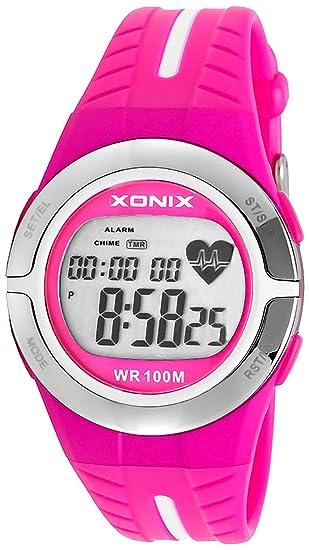 Avanzado Deportivo Reloj Xonix, Pulsómetro,Excelente Gadget Para el Entrenamiento,Multifunción,Resistente al agua 100M: Amazon.es: Relojes