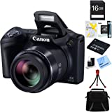 Canon Powershot SX410 IS 20MP 40x Optical Zoom HD Digital Camera Bundle with Accessories, Black