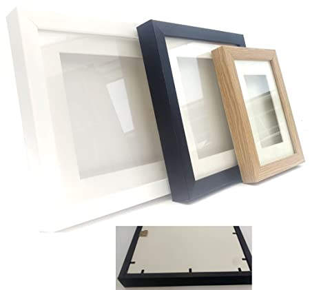 ALL SIZES! 5 x 5 x 0.6 Depth. Colour: White 3D Box Frame Display ...