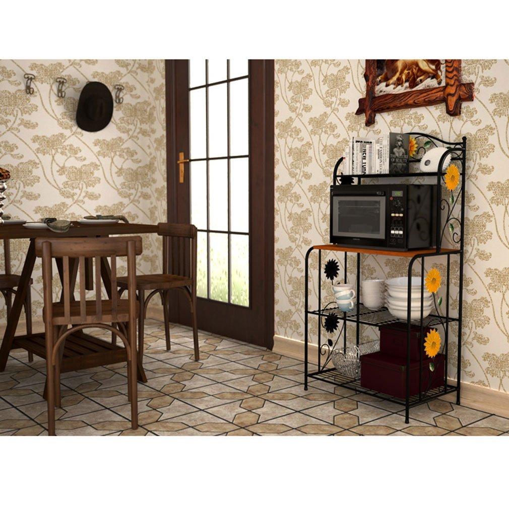 HLC Girasol etapa cocina estante Bakers de Metal de almacenamiento de estantería de metal envejecido de pie grande: Amazon.es: Hogar