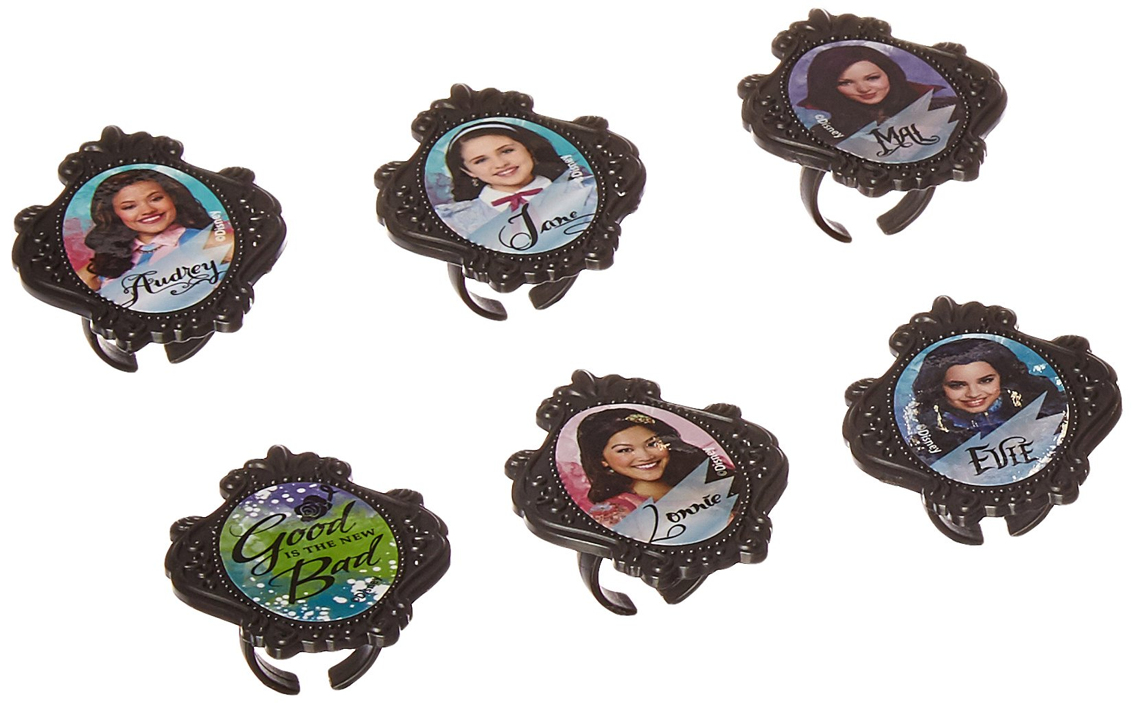 24 Disney Descendants Cupcake Rings