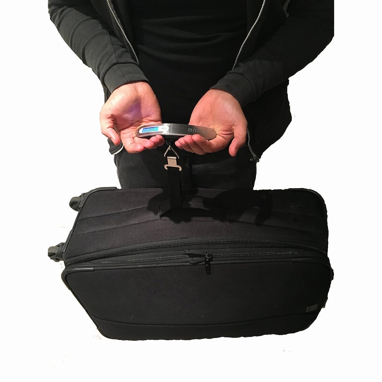 Pèse Bagages Digital  - Echelle de valise électronique Légère pour l'écaillage numérique mobile suspendu jusqu'à 50KG. Écran d'affichage Illuminé