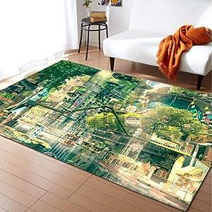 KFEKDT Rural Living Room Carpet 3D Flower Children's Room Game Pad Home Decoration Bedside Bedroom Carpet No-9 120x170cm