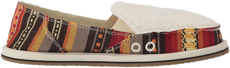 Sanuk Womens Donna Sherpa Blanket Loafer Flat